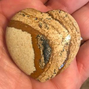 Fancy Jasper Polished Stone Heart